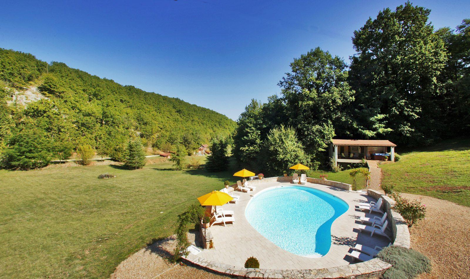 Frankrijk, Dordogne, Lot, Souillac, natuur, gezin, vakantie, zwembad, sauna, jacuzzi