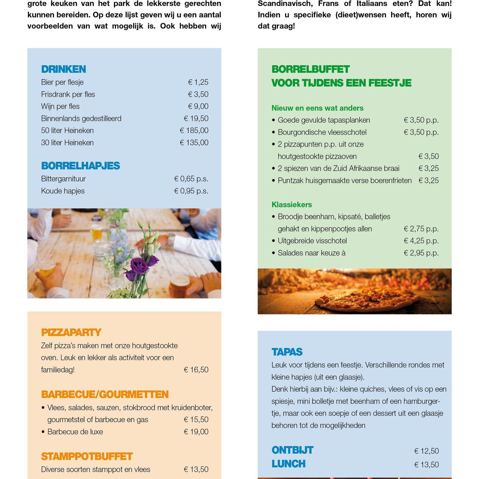 Cateringlijst