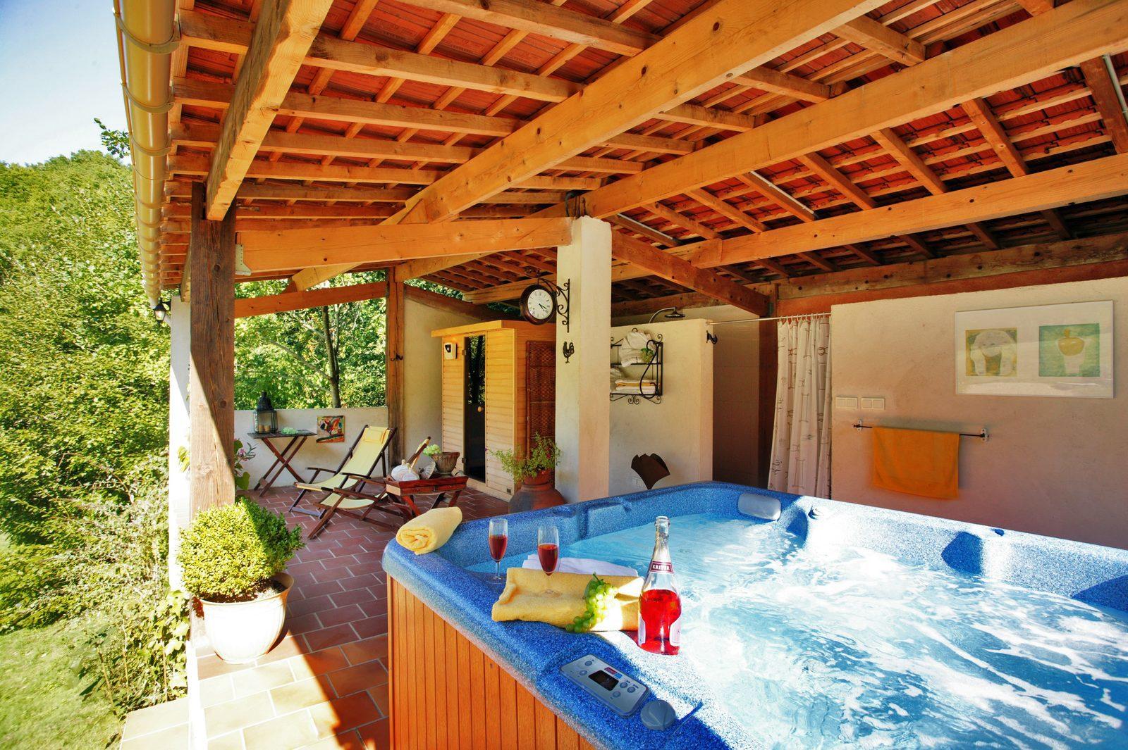 Frankrijk, Dordogne, Souillac, sauna, jacuzzi, vakantie, vakantiehuis, romantisch