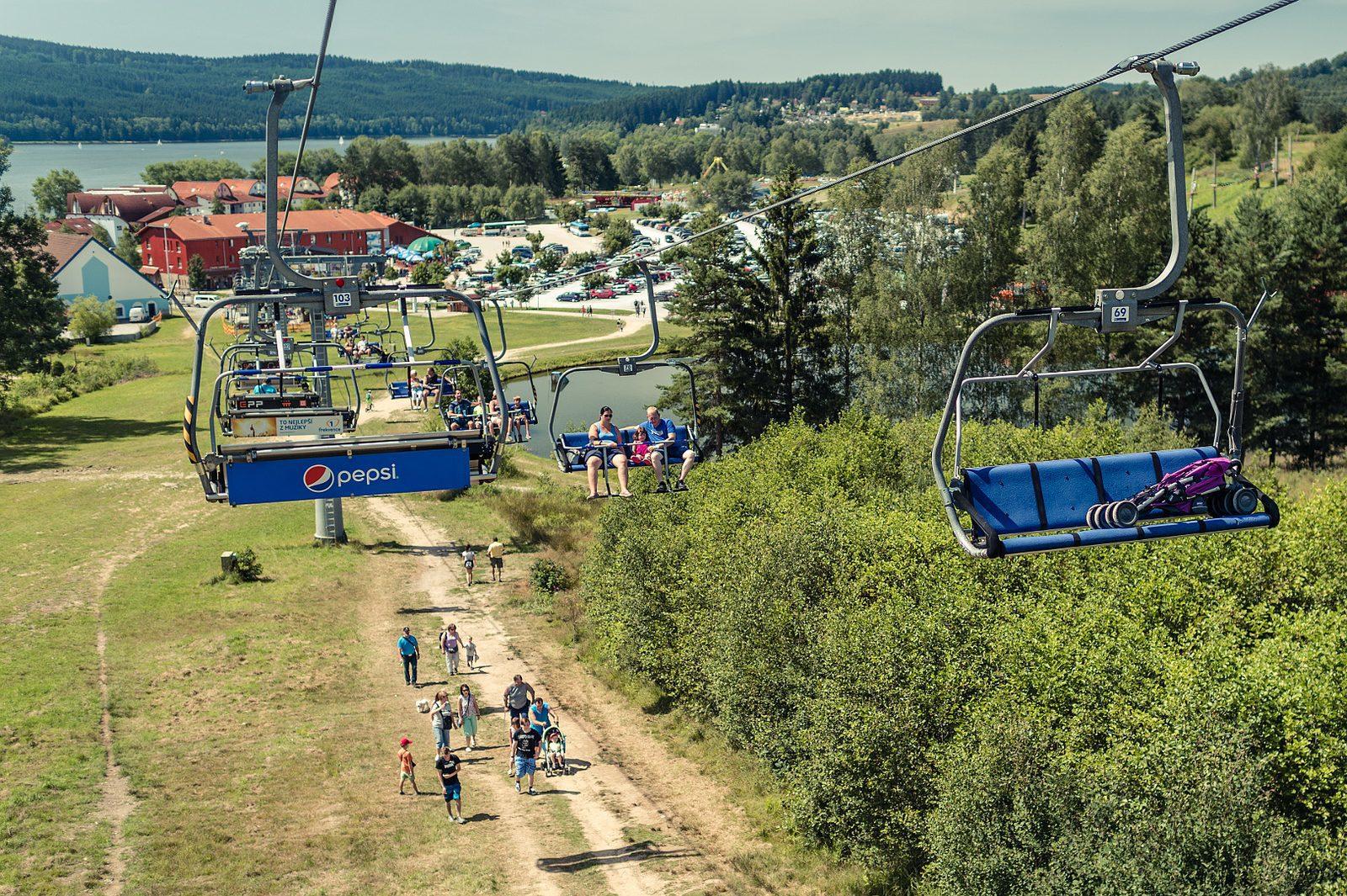Summer four seat chair lift Lipno - Kramolin - Lipno Lake Resort