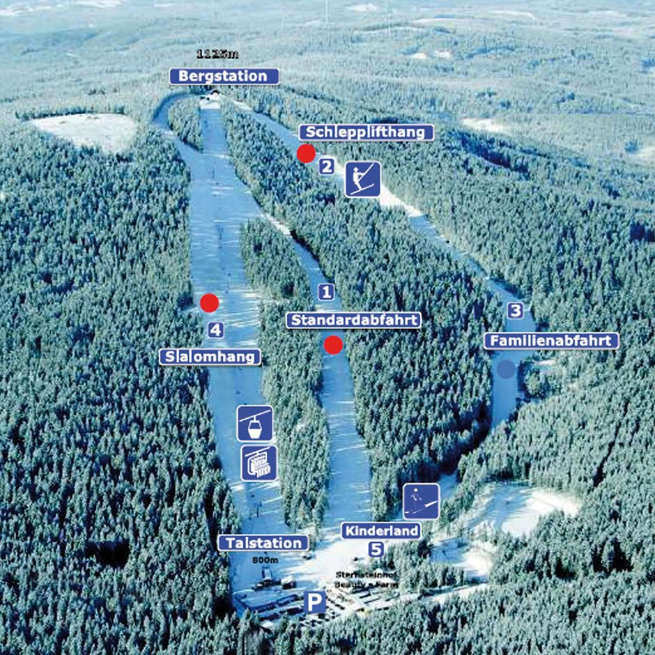 Mapa Skiareálu Sternstein