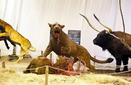 Reuzen van de Ice Age tentoonstelling