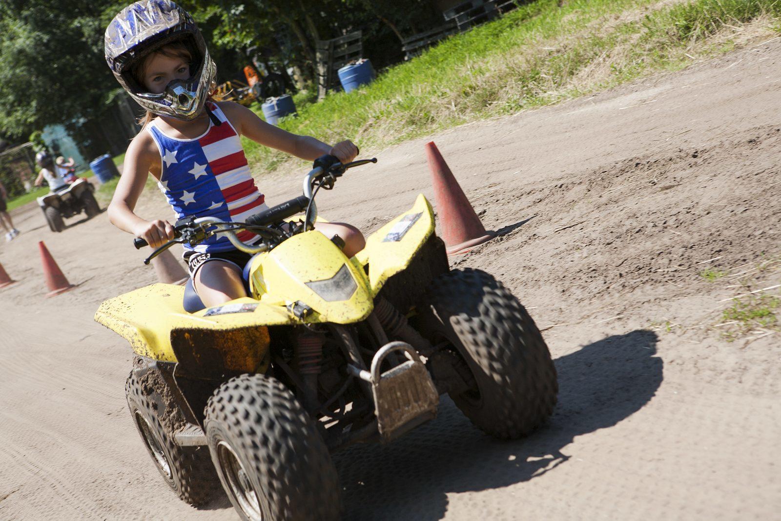 Quad rijden op kinderfeestje in Voorthuizen