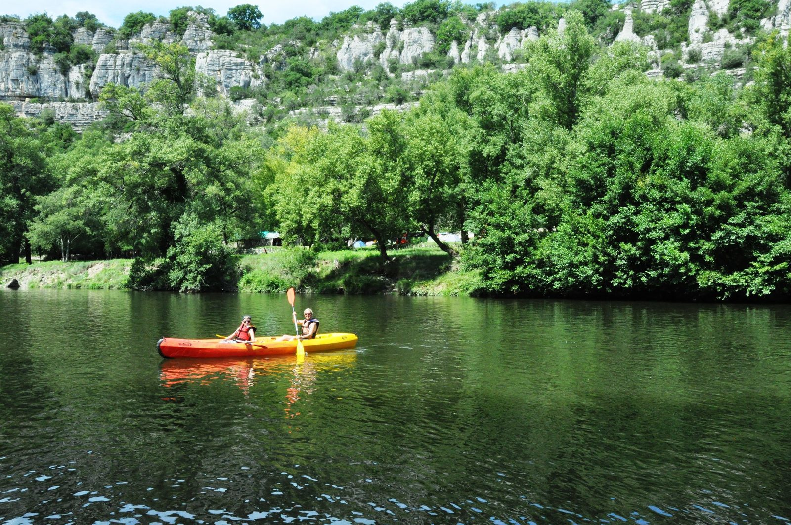 Vakantie, Ardeche, natuur, kanovaren, Gorges de l'Ardeche, Pont du Gard