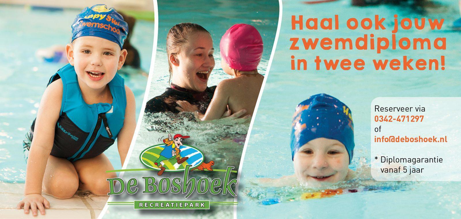 Haal je zwemdiploma tijdens vakantie op Recreatiepark De Boshoek