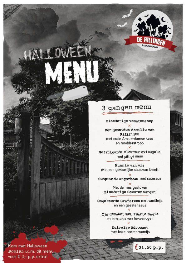 3-gangen menu met Halloween op De Boshoek