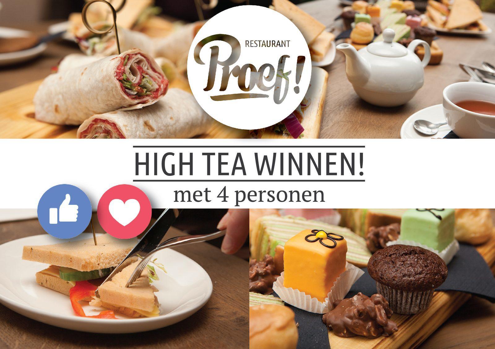 Win een High Tea voor 4 personen in Voorthuizen bij Proef!