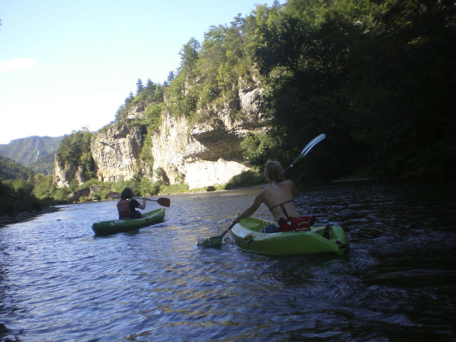 Tarn, kanoen, Cevennes, Languedoc Roussillon, Frankrijk, vakantie