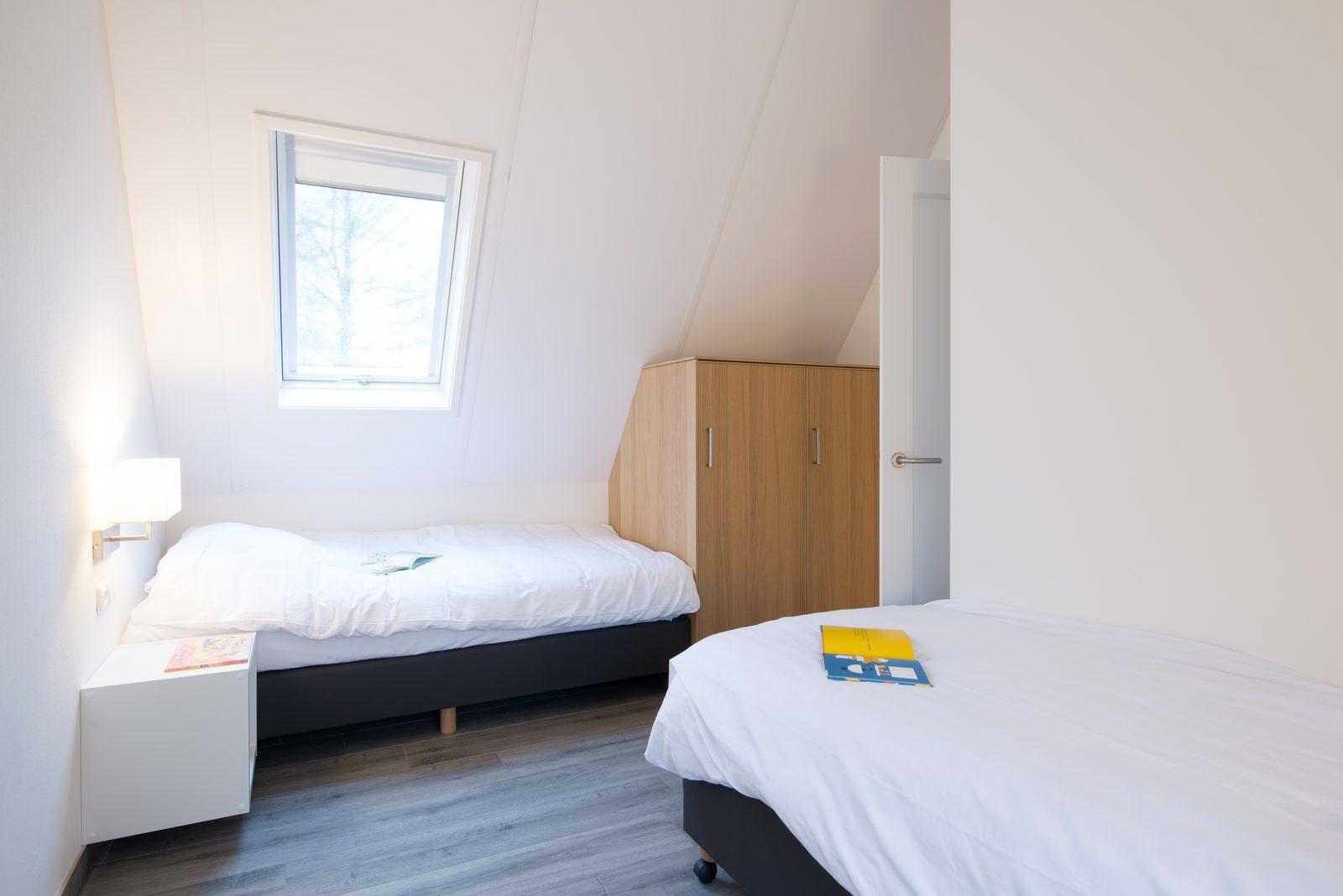 Wilgenhaege: slaapkamer met 2x eenpersoonsbed
