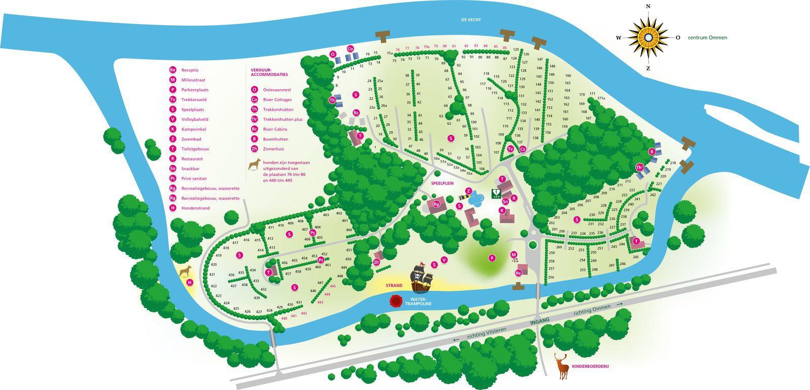 Campsite de Koeksebelt Ommen Map 2018