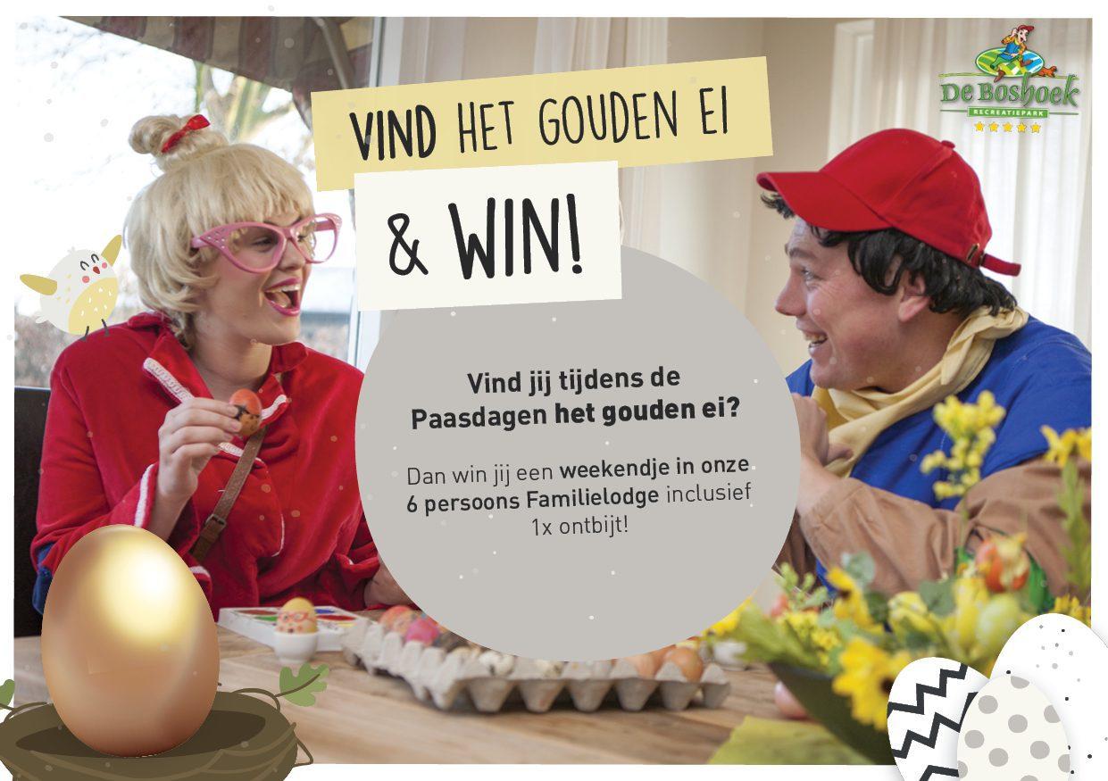 Vind het gouden ei op De Boshoek tijdens de Paasdagen en win een vakantie!