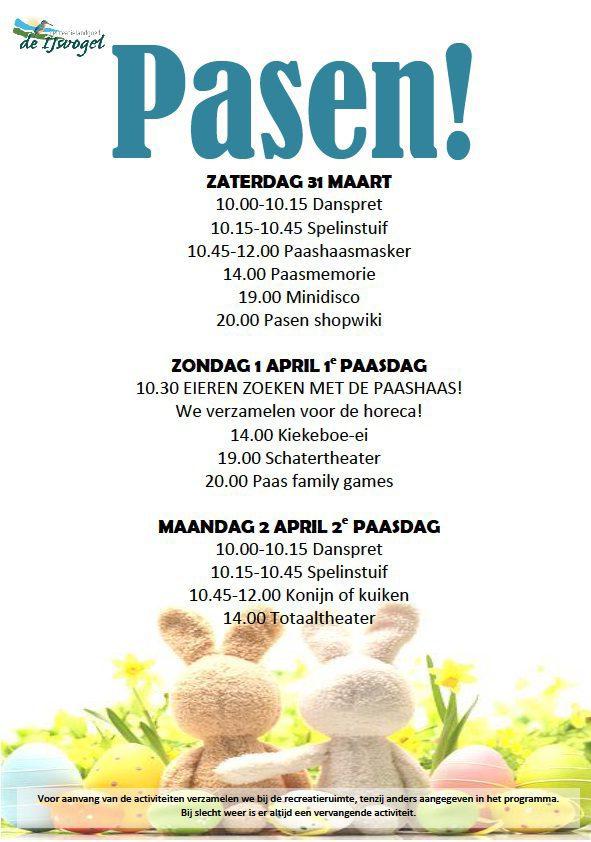 Programma Pasen 2018