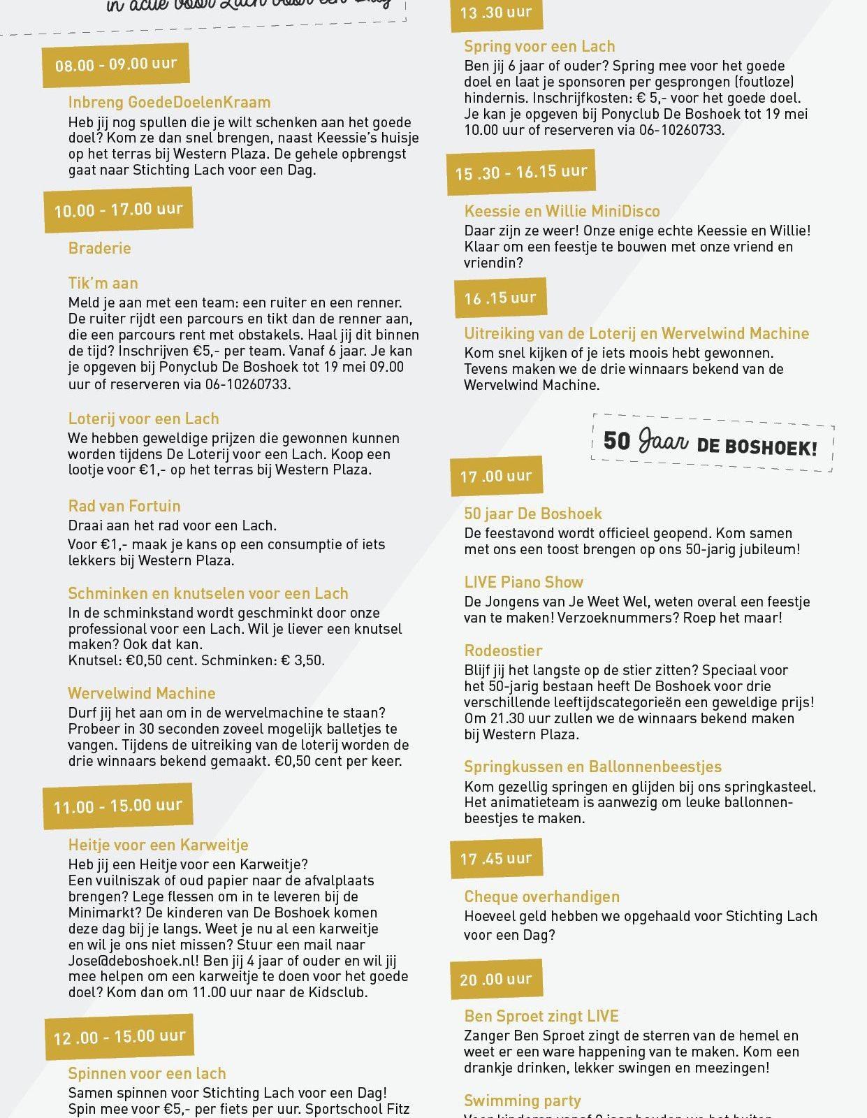 Animatieprogramma op Recreatiepark De Boshoek