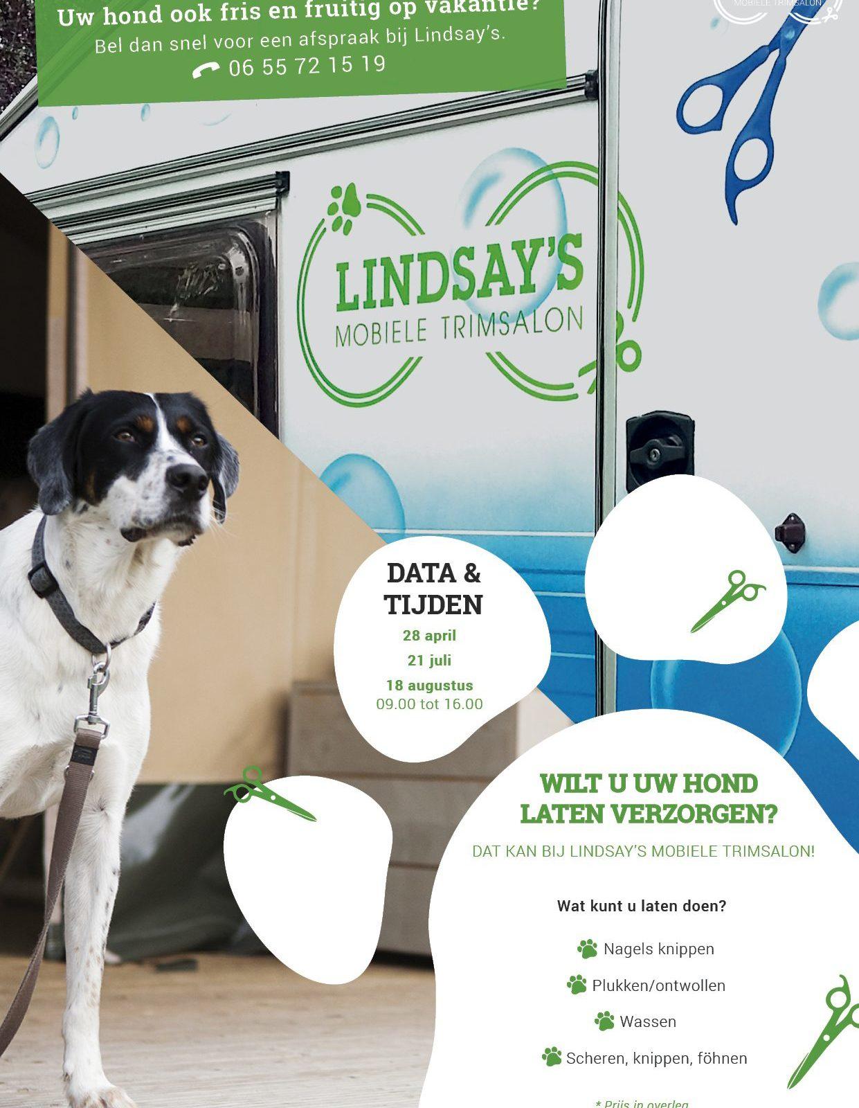 Mobiele Trimsalon voor uw hond op Recreatiepark De Boshoek