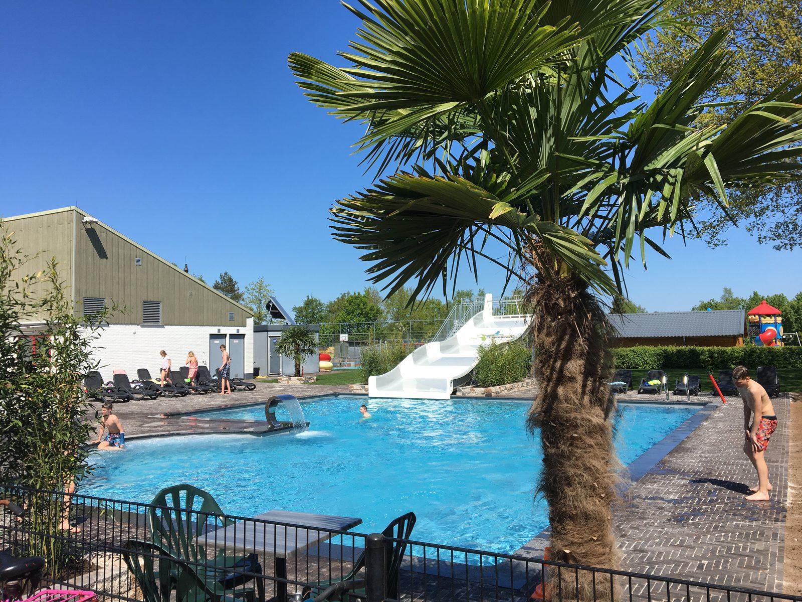 Zwemmen in het buitenzwembad