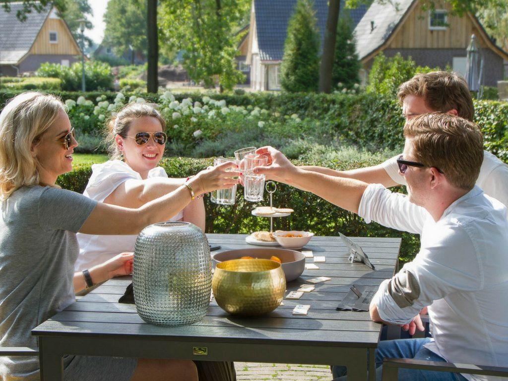 Proosten op het terras van uw vakantievilla op Hof van Salland