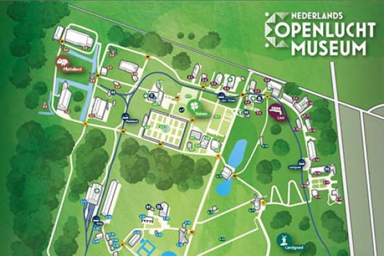 Dutch Open Air Museum map