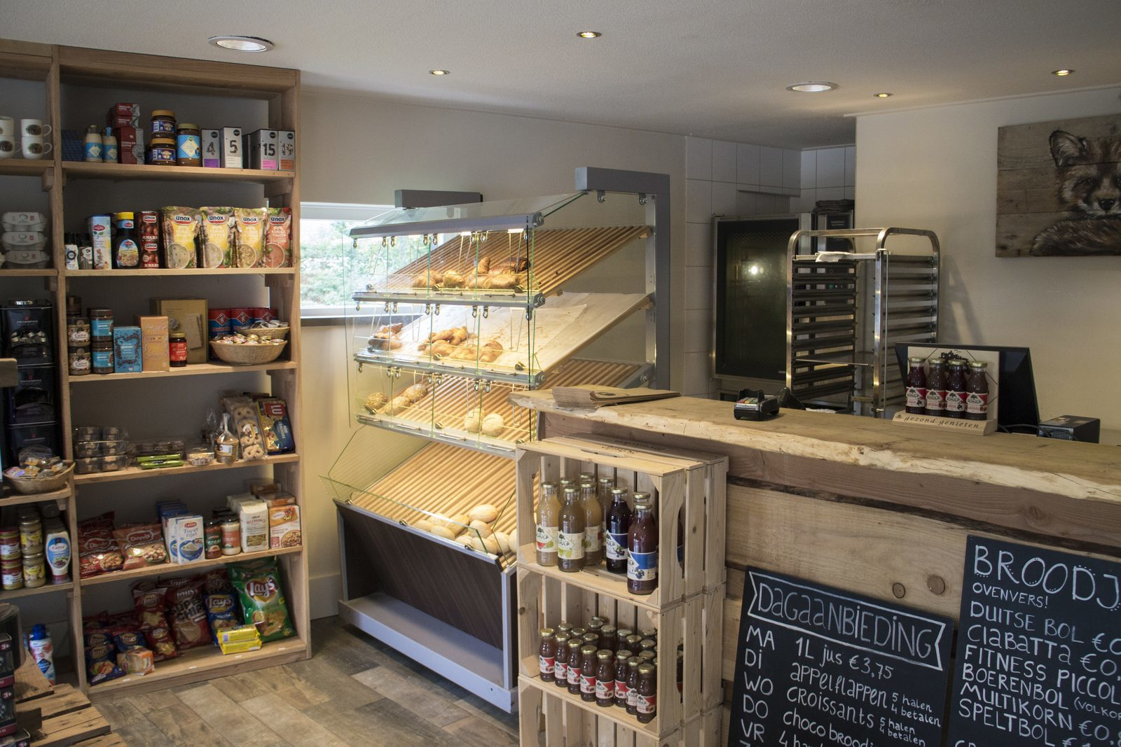 EuroParcs Resort De Wije Werelt facility breakfast shop look inside
