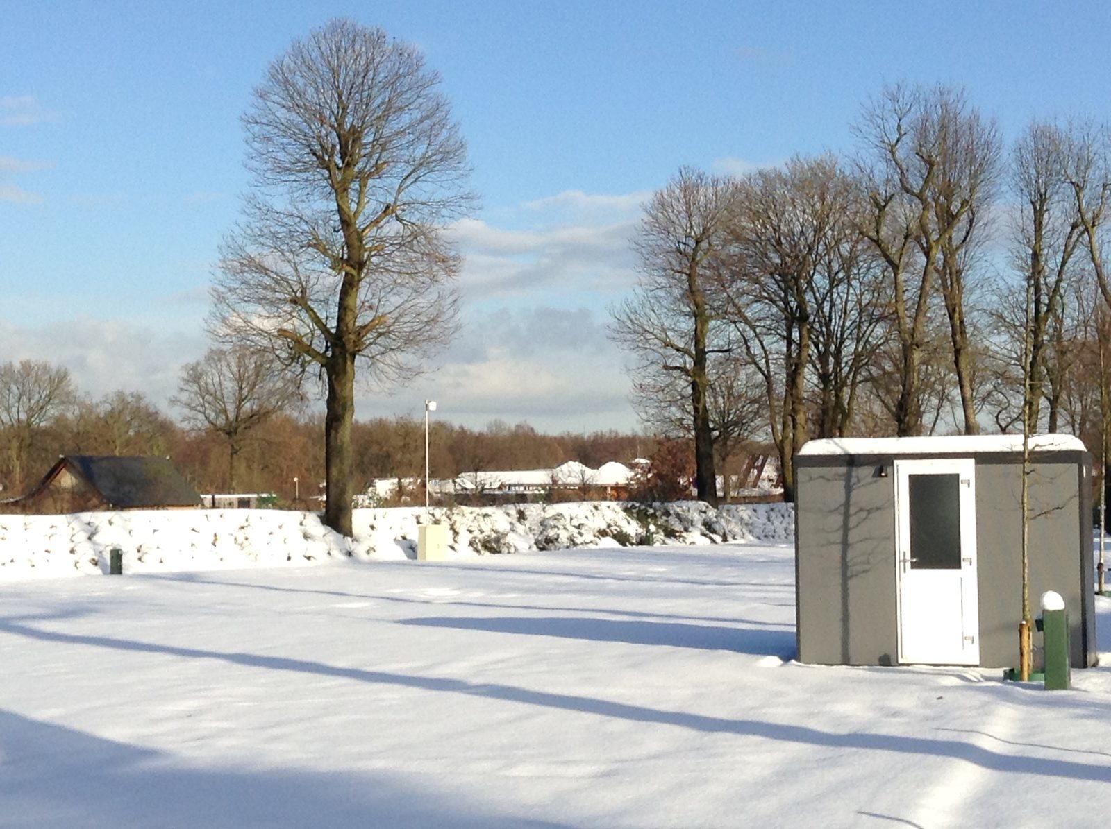 Kamperen in de winter op Ackersate