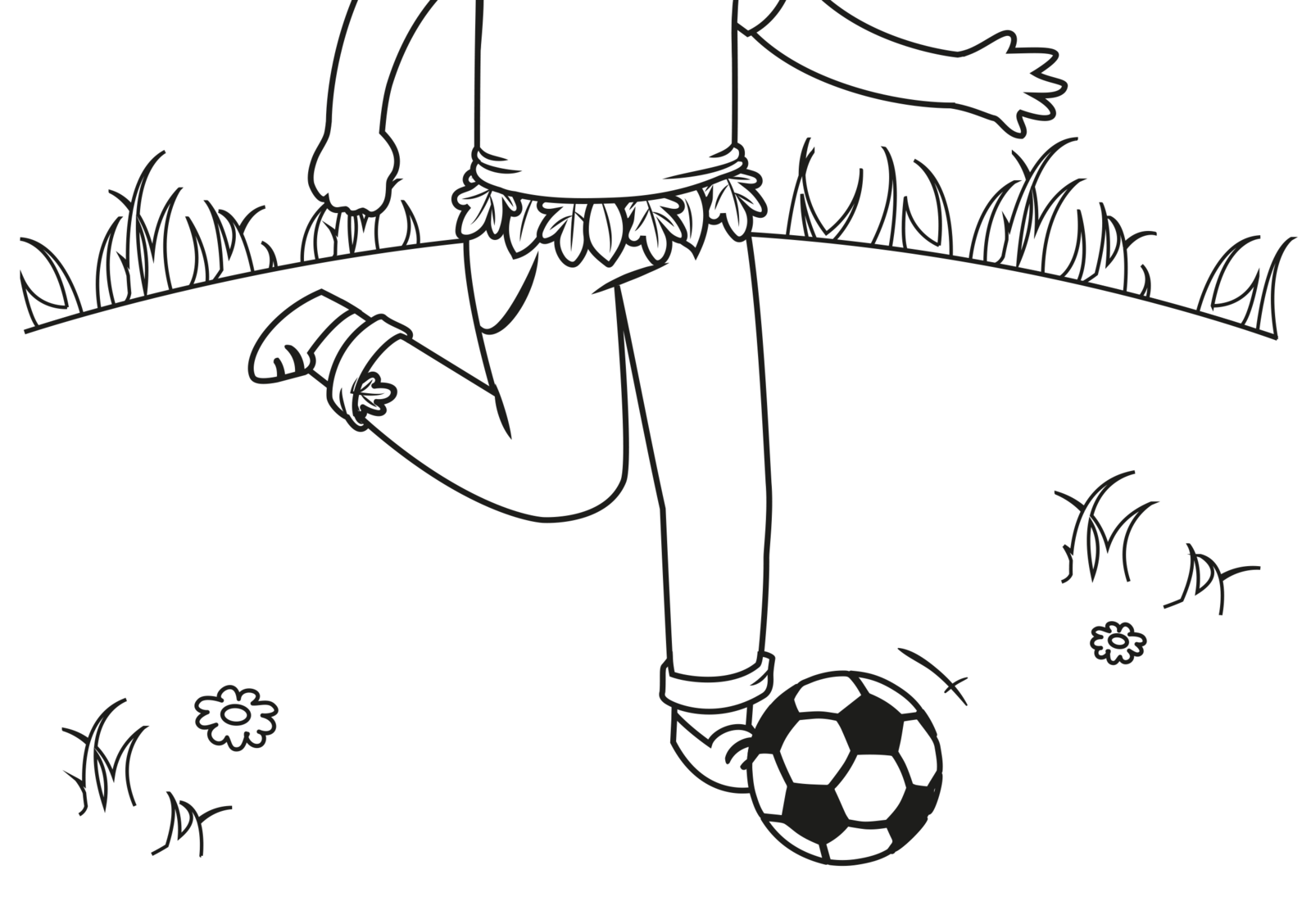 EuroParcs coloring picture Soccer