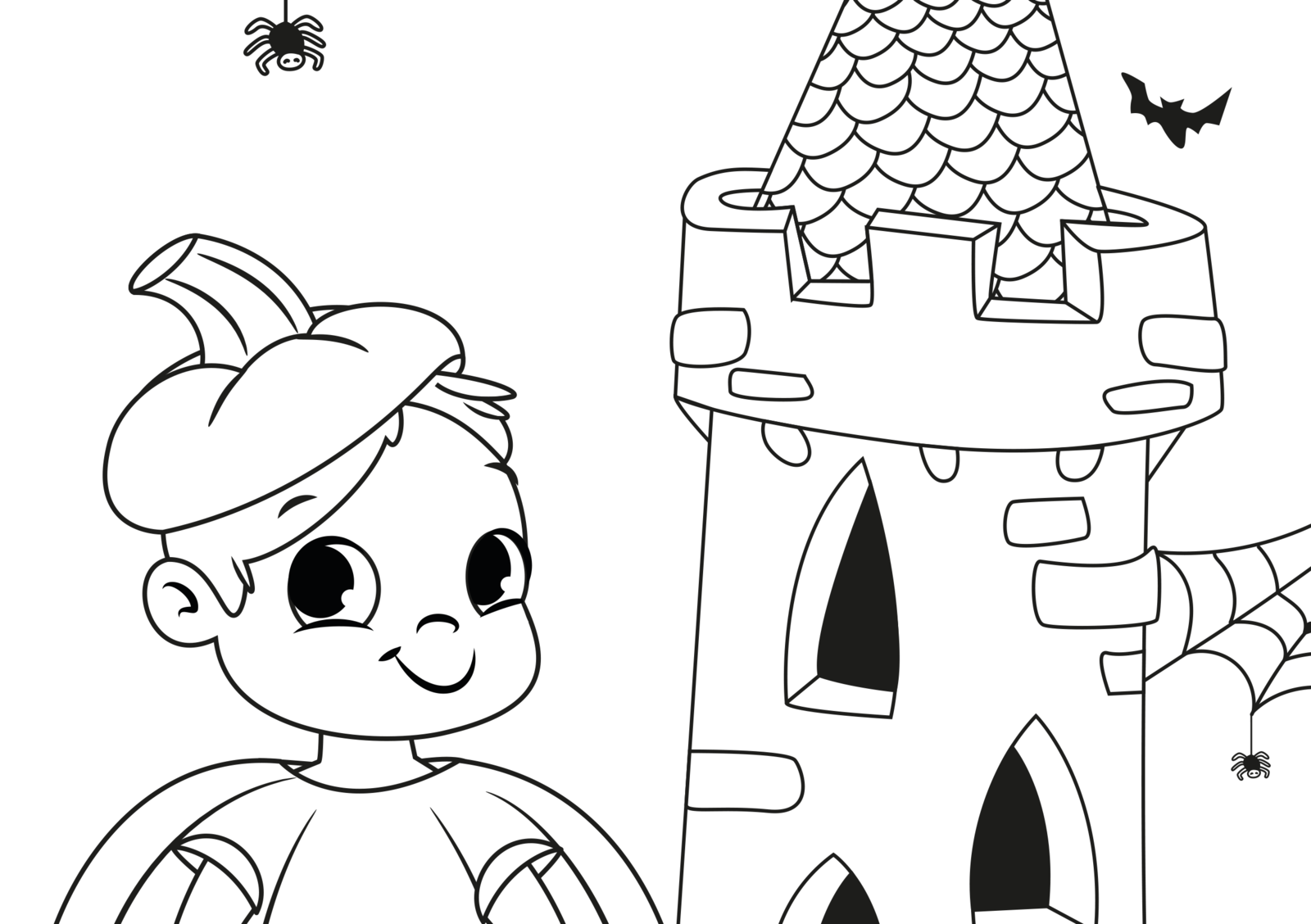EuroParcs coloring pictures Halloween