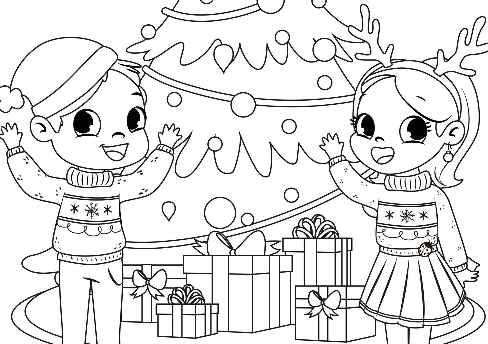 EuroParcs coloring pictures Christmas