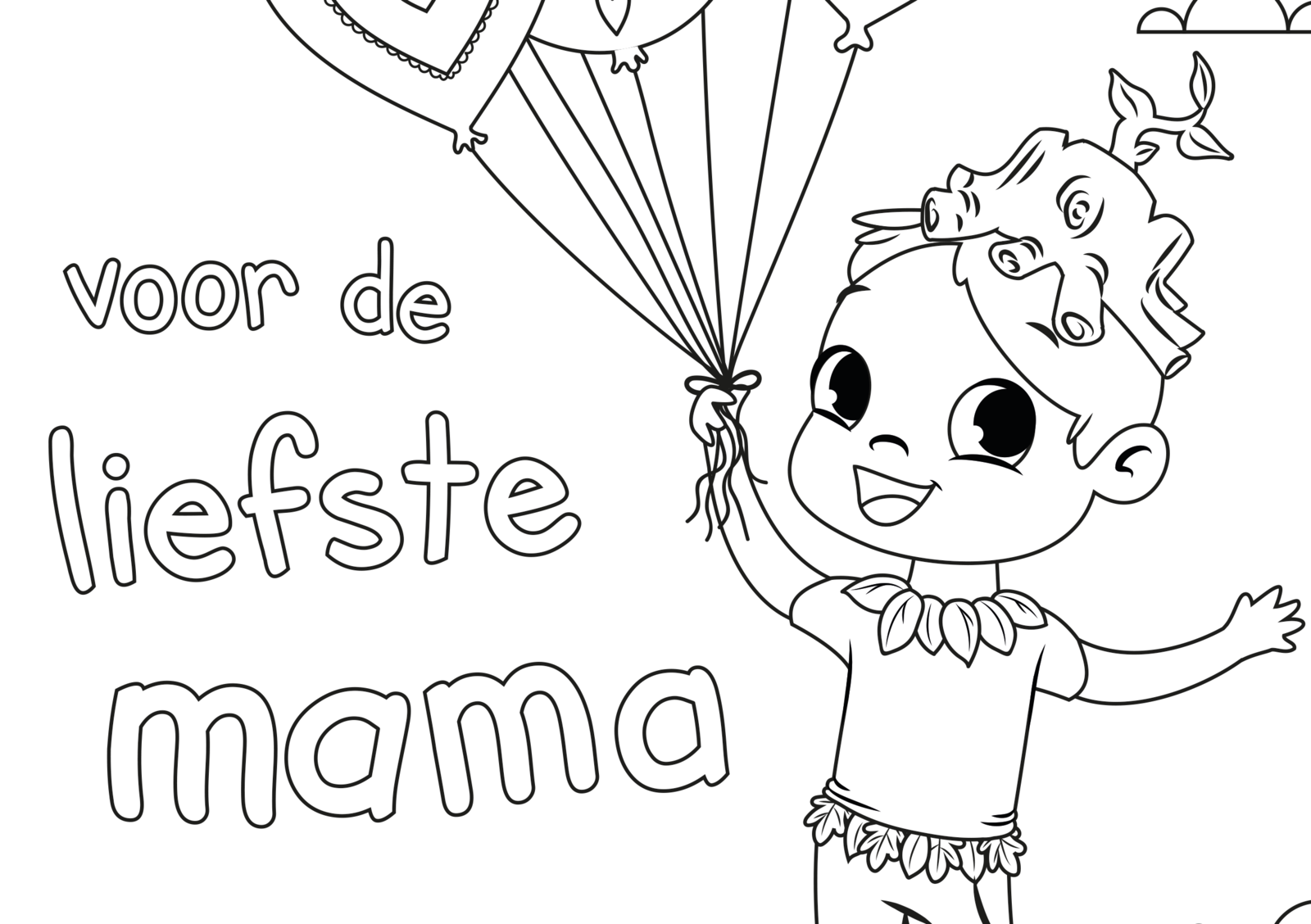 EuroParcs coloring pictures Mother's Day