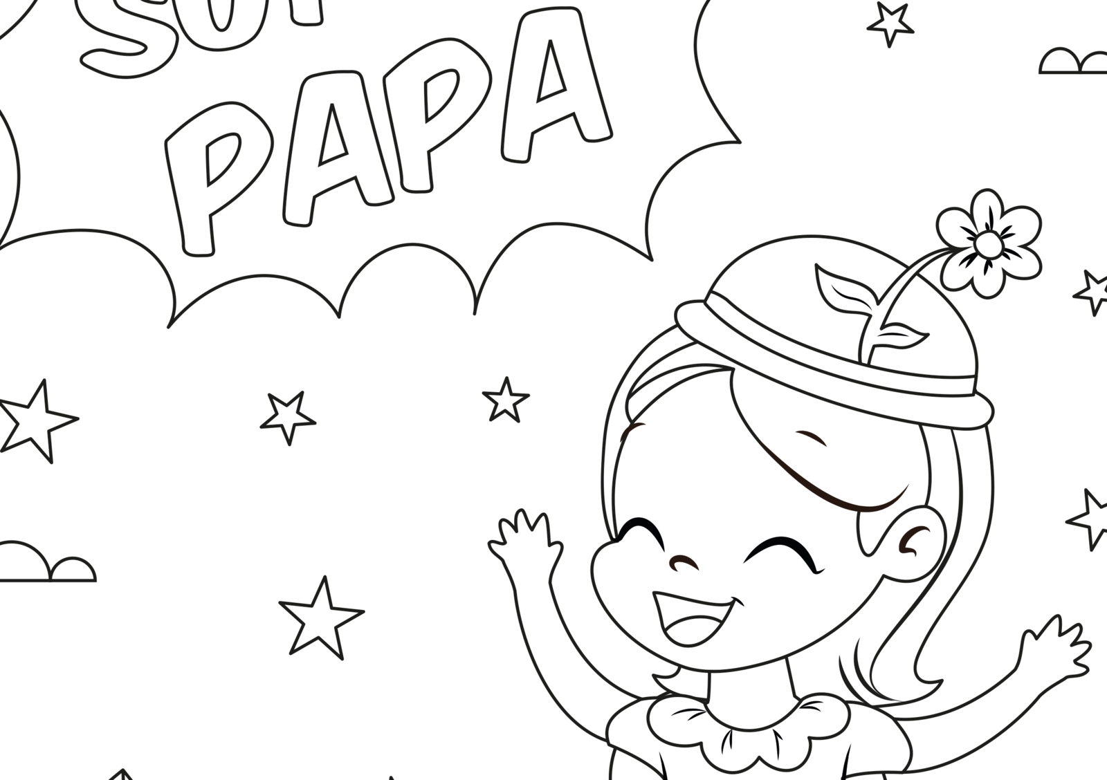 EuroParcs coloring pictures Father's Day