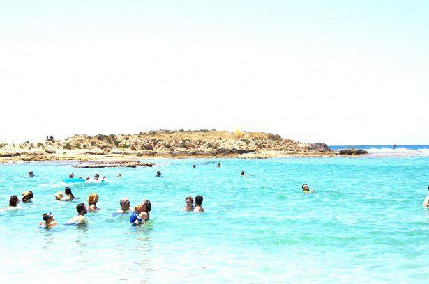 Nager jusqu'à la petite Bonaire
