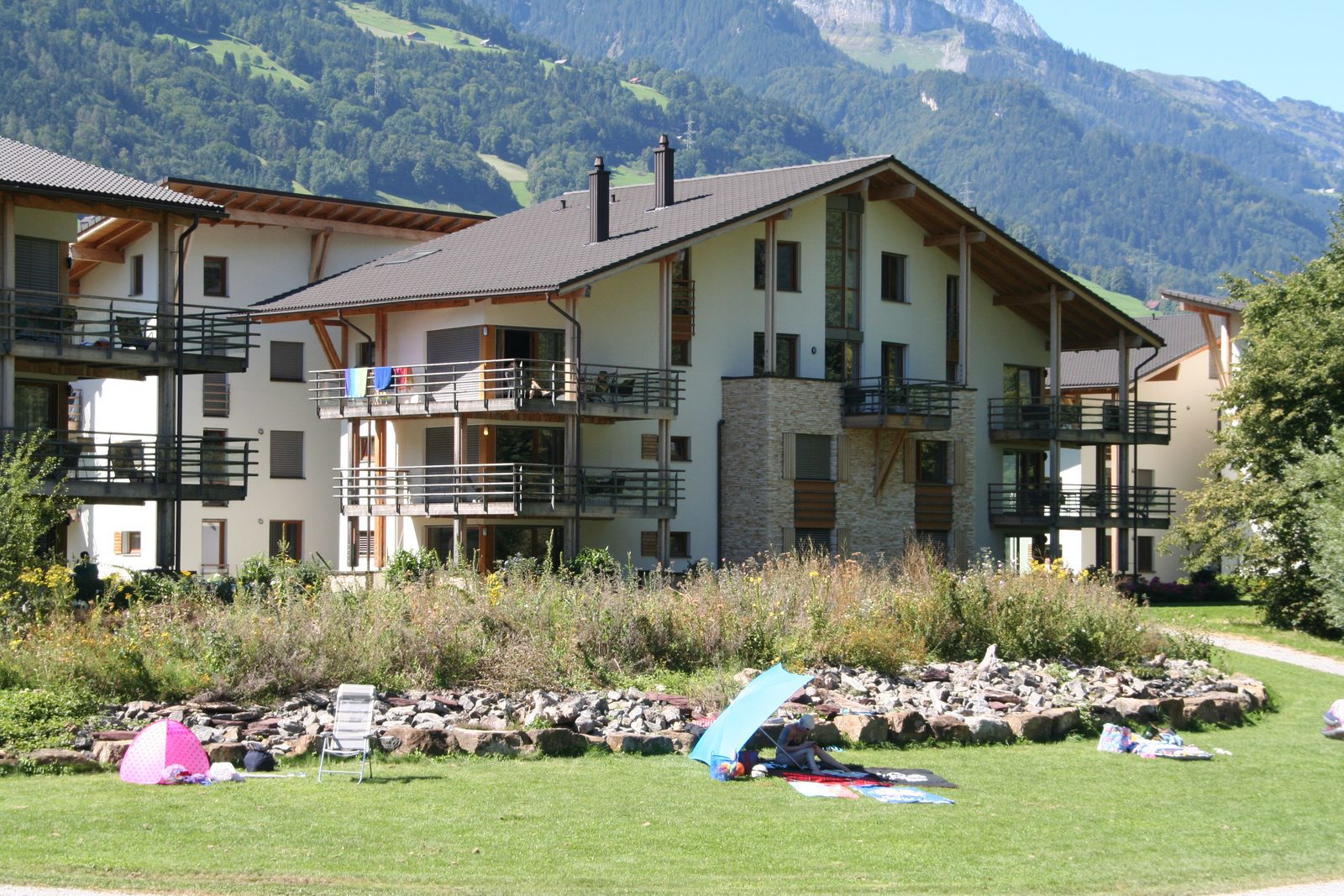 The apartments on Resort Walensee Heidiland Flumserberg Switzerland are situated directly at the water