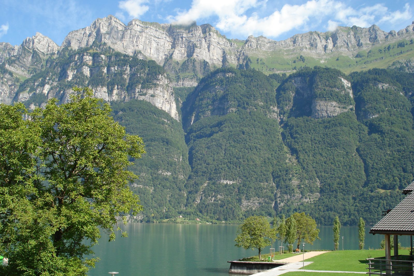 The Churfirsten from Resort Walensee