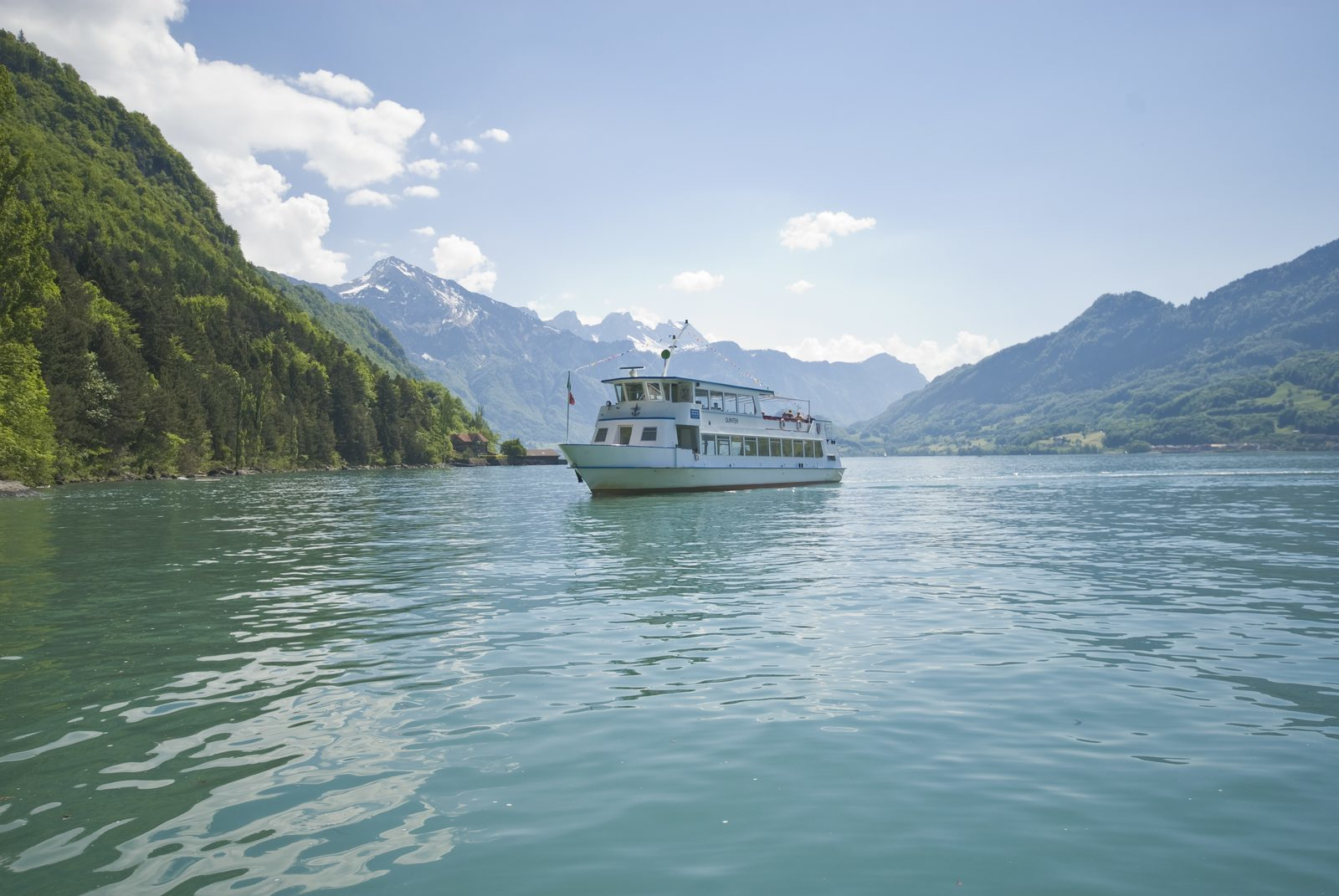 Boat trip on the Walensee