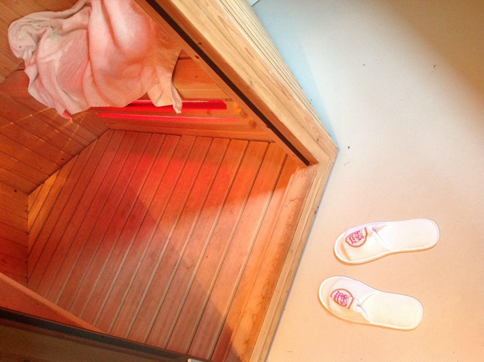In de sauna van uw vakantiehuis, de hectiek van alledag vergeten.