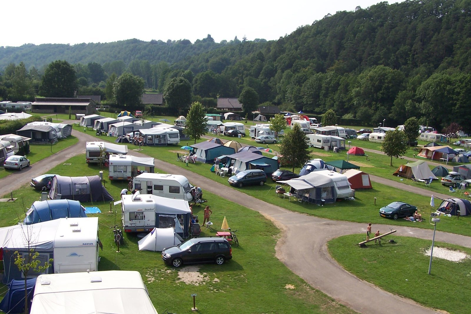 Camping in the Ardennes